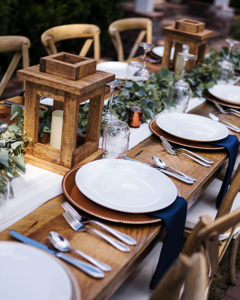 Forest Wedding near Lake Tahoe - place settings close up