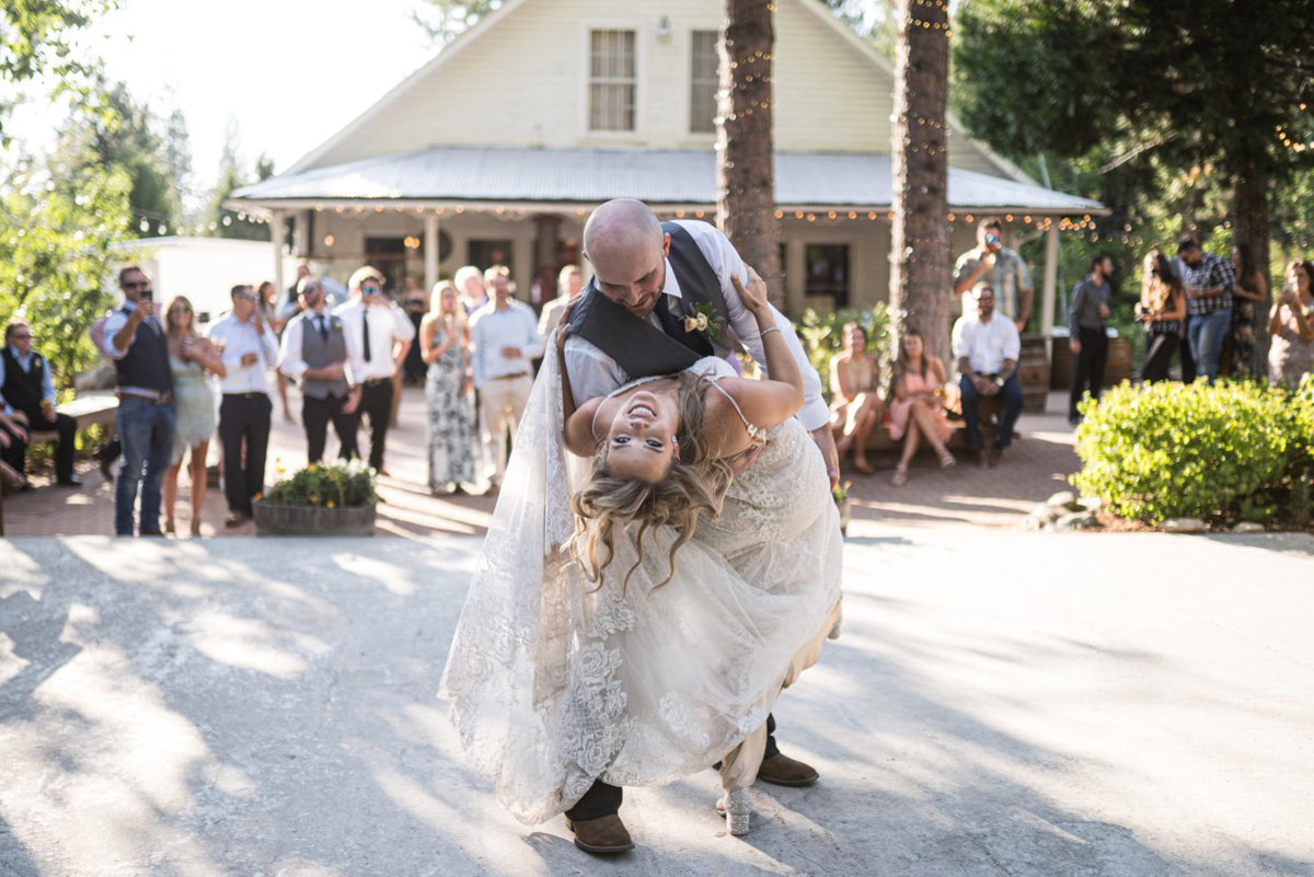 Forest Wedding near Lake Tahoe - first dance moves