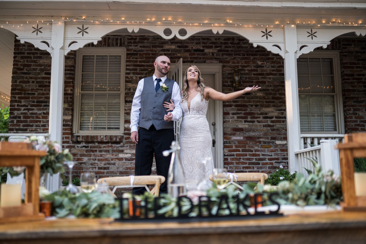 Forest Wedding near Lake Tahoe - couple thanks guests for attending