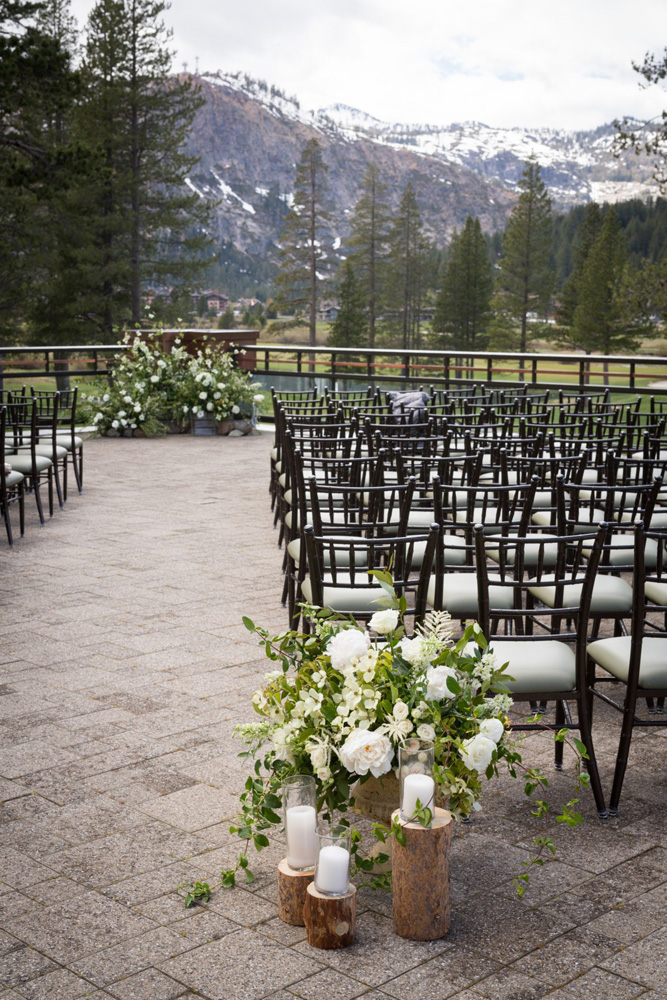 Resort at Squaw Creek Lake Tahoe wedding - ceremony area
