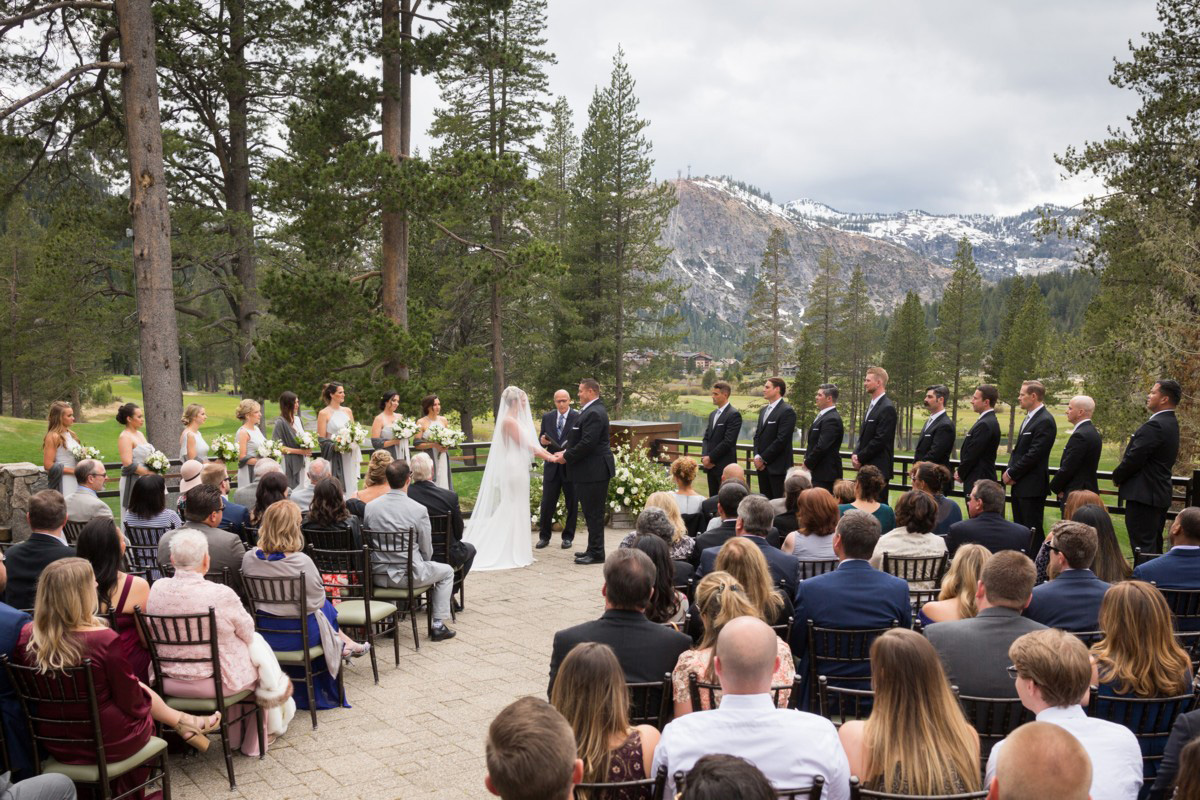 Resort at Squaw Creek Lake Tahoe wedding - ceremony