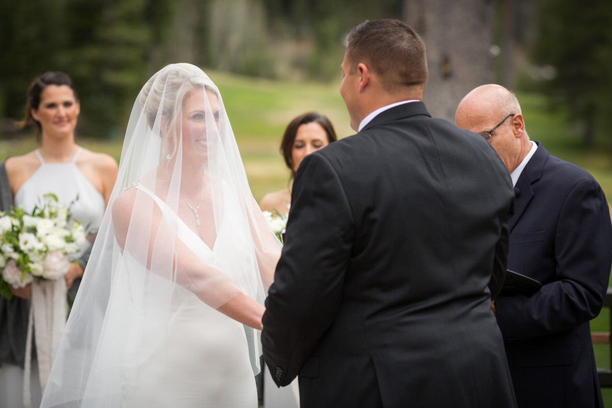 Resort at Squaw Creek Lake Tahoe wedding - vows