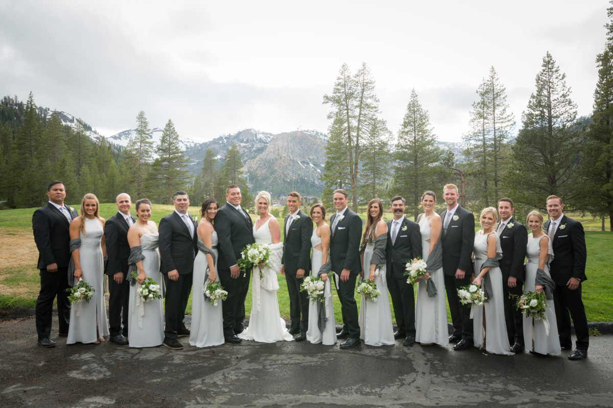 Resort at Squaw Creek Lake Tahoe wedding - wedding party