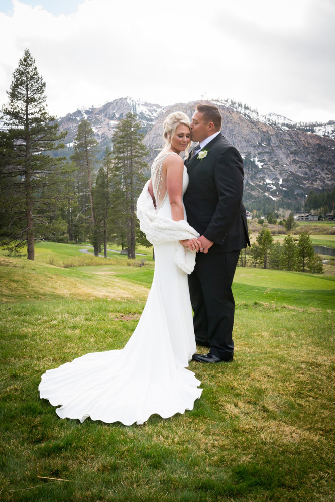Resort at Squaw Creek Lake Tahoe wedding - couple in valley