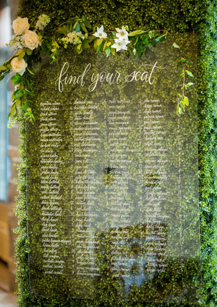 Resort at Squaw Creek Lake Tahoe wedding - seating chart