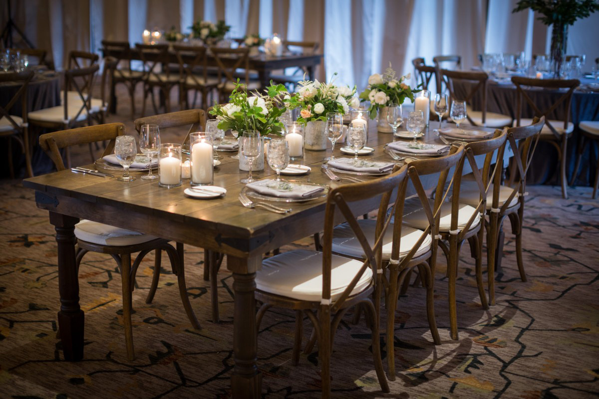 Celebrations Party Rentals Lake Tahoe wedding - dining table