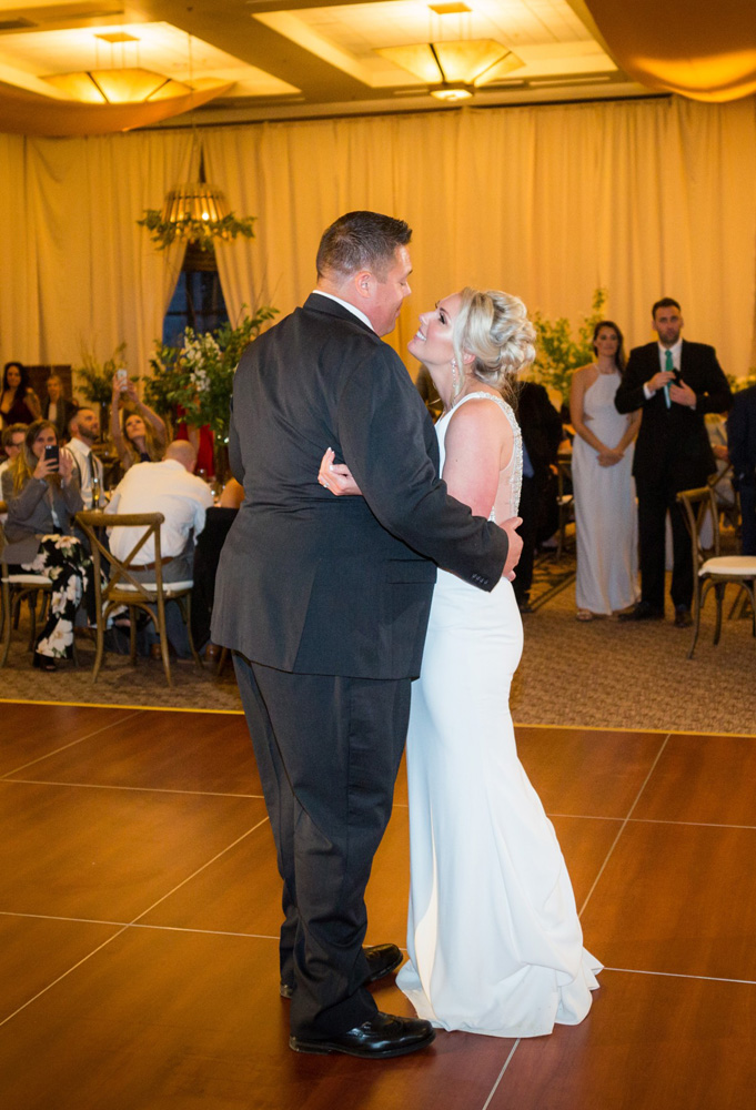 Resort at Squaw Creek Lake Tahoe wedding - couple's first dance