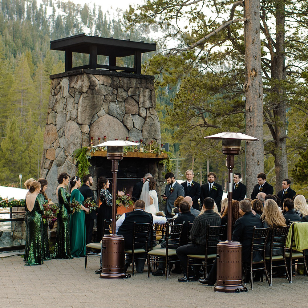 Wedding ceremony - Winter Wedding Lake Tahoe