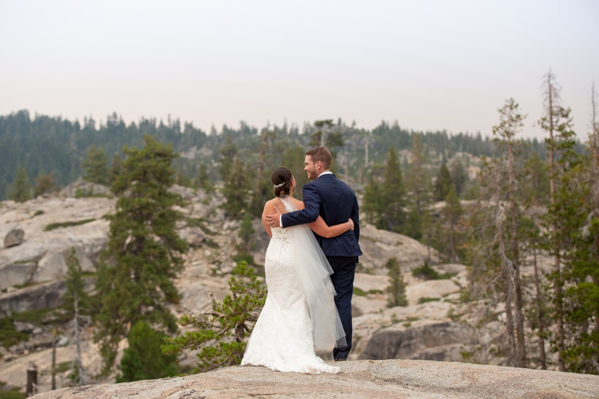 newlyweds at The HideOut at Kirkwood wedding venue near Lake Tahoe