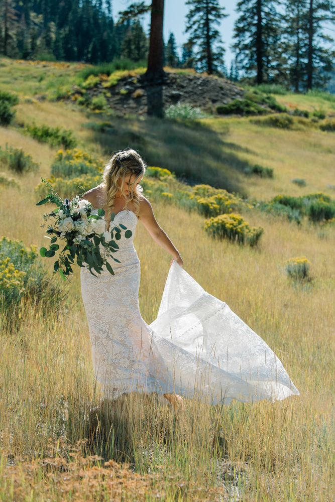 Squaw Valley wedding near Lake Tahoe - bride