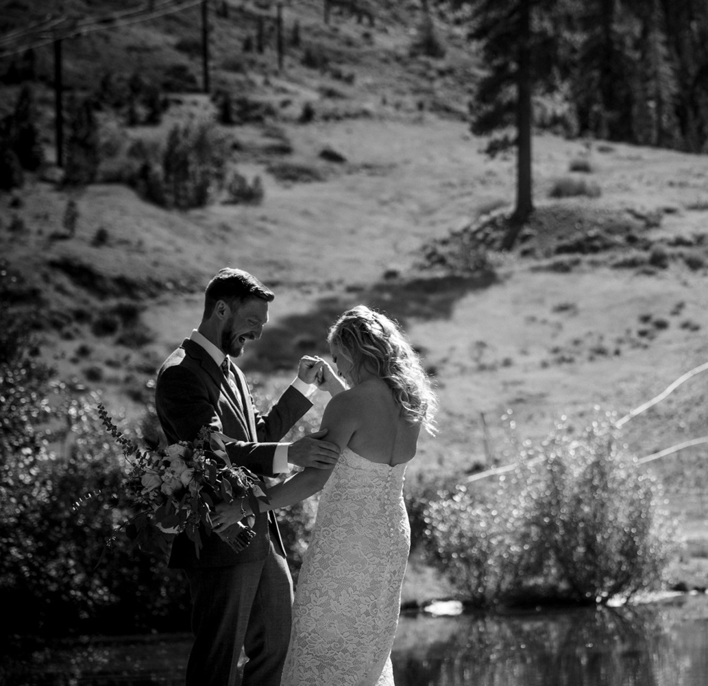 Squaw Valley wedding near Lake Tahoe - first look