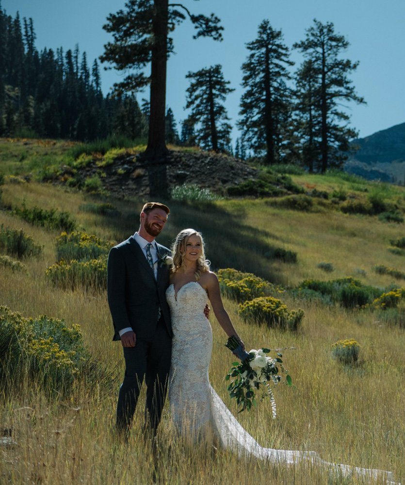 Squaw Valley wedding near Lake Tahoe - couple enjoying scenery