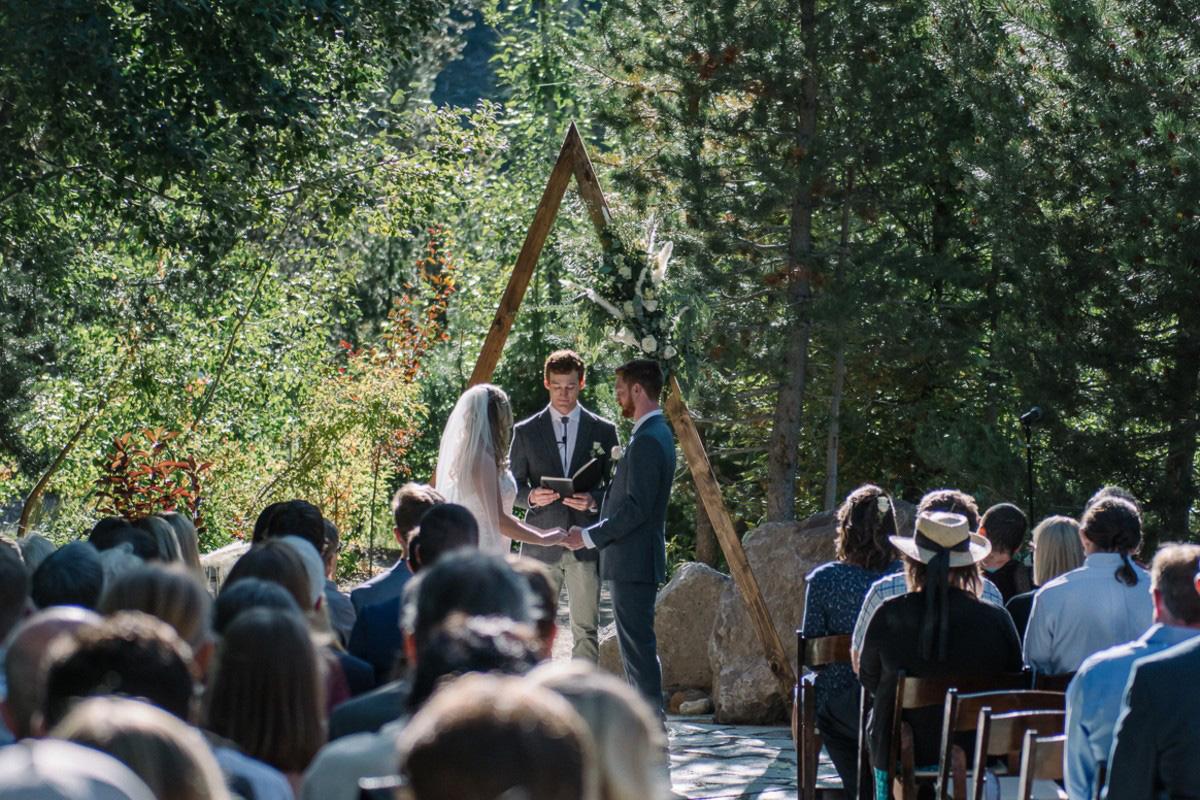 Squaw Valley wedding near Lake Tahoe - ceremony