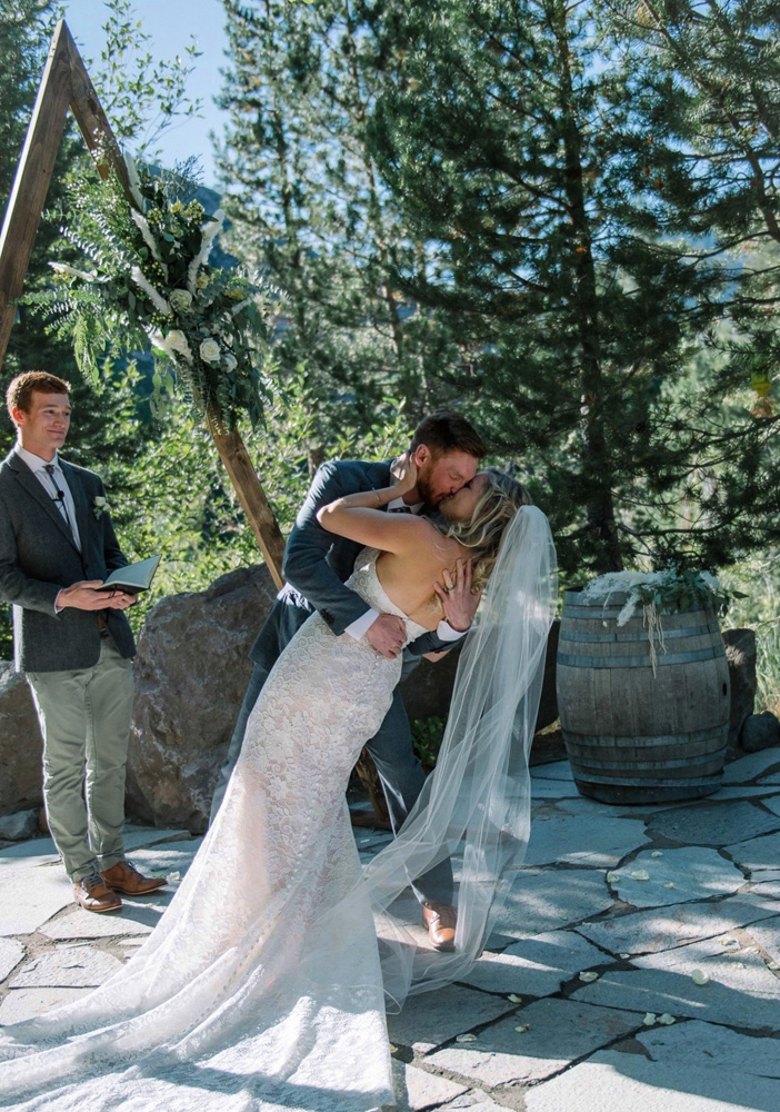 Squaw Valley wedding near Lake Tahoe - you may kiss the bride