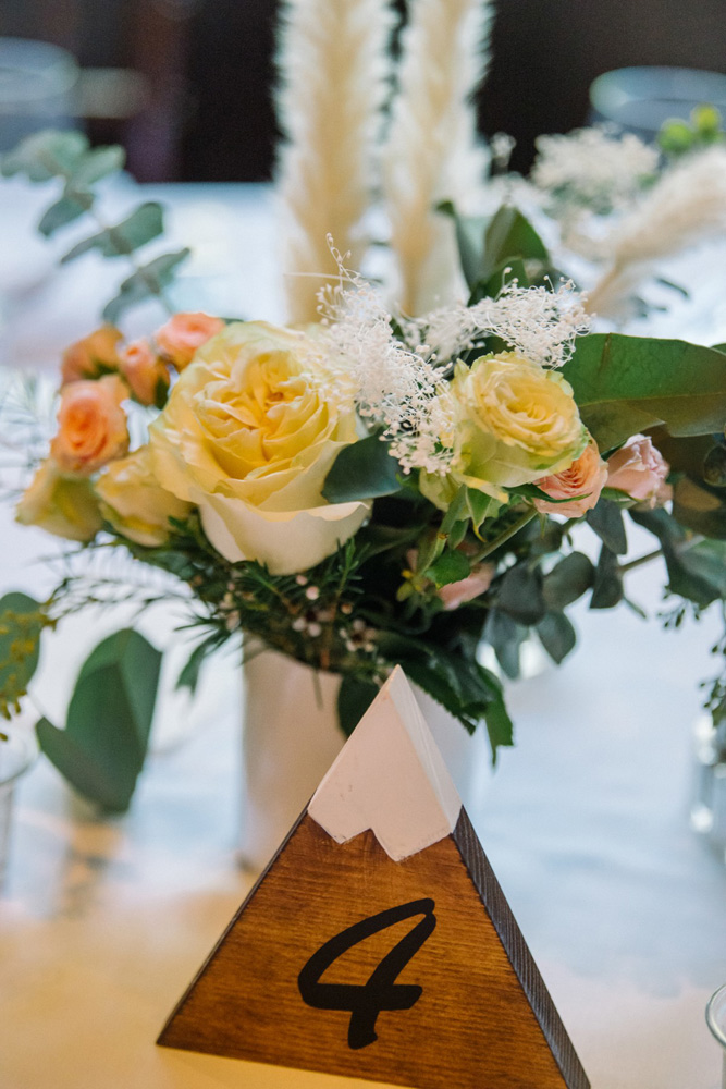 Squaw Valley wedding near Lake Tahoe - table centerpiece