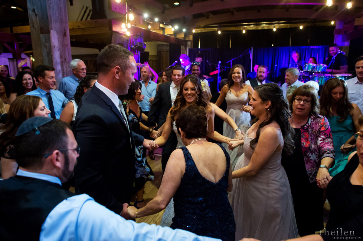 Northstar California Lake Tahoe wedding Jewish Hora dancing circles