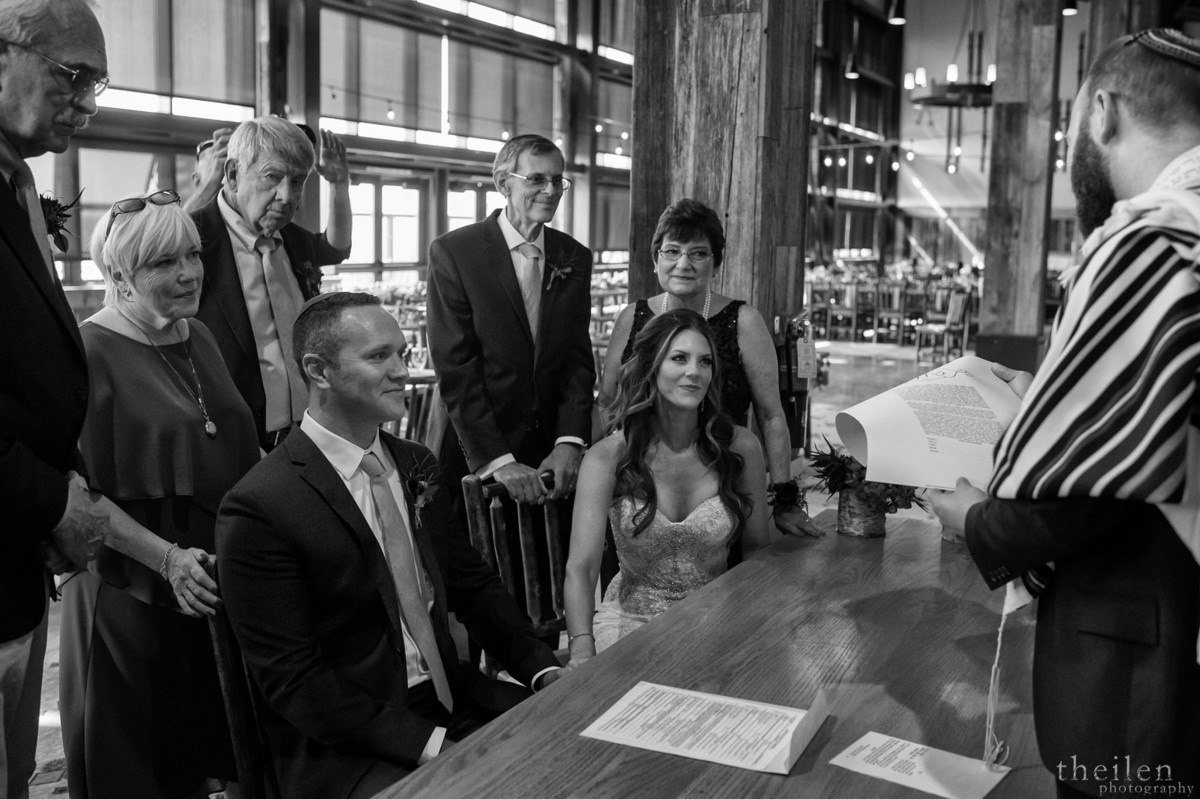 Northstar California Lake Tahoe wedding Jewish ketubah signing