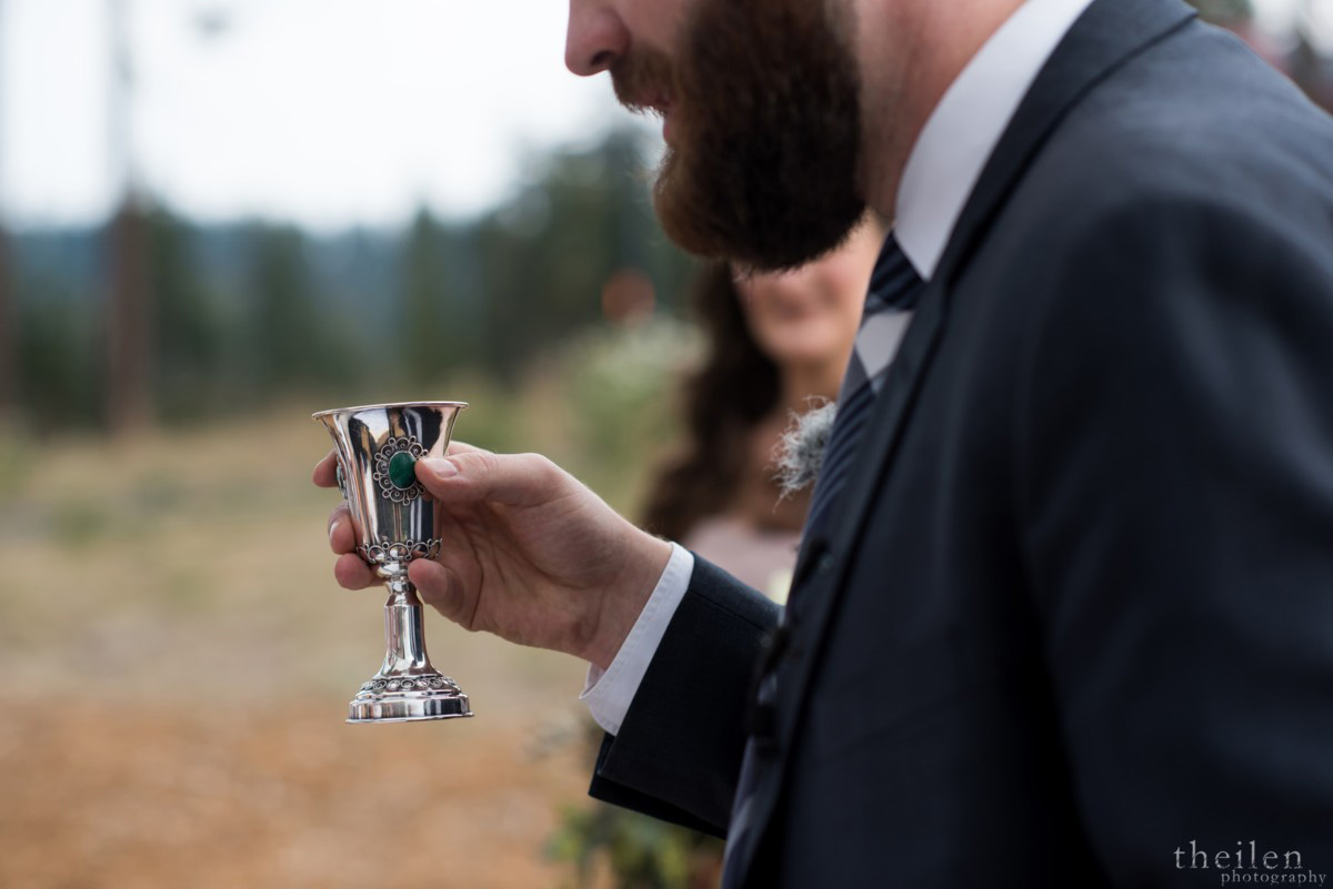 Northstar California Lake Tahoe wedding Jewish Kiddush cup rabbi