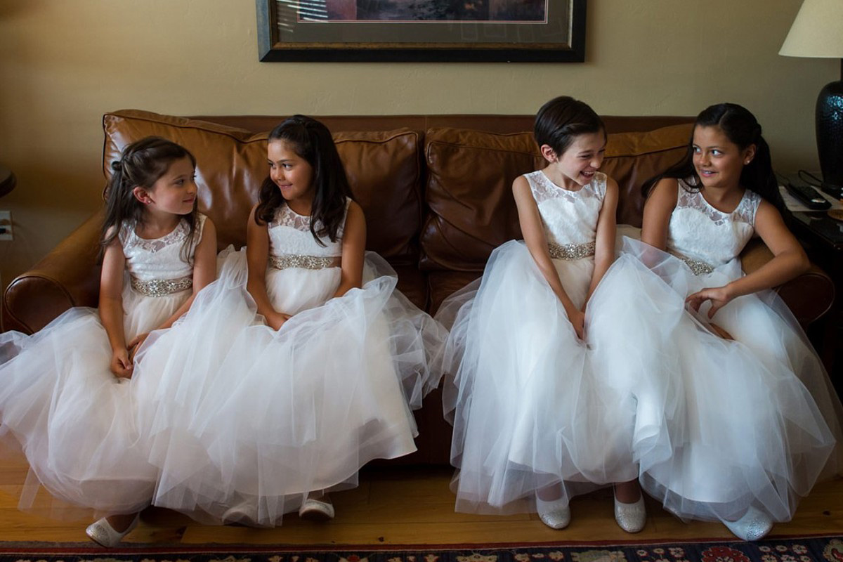 Northstar California Wedding Lake Tahoe flower girls