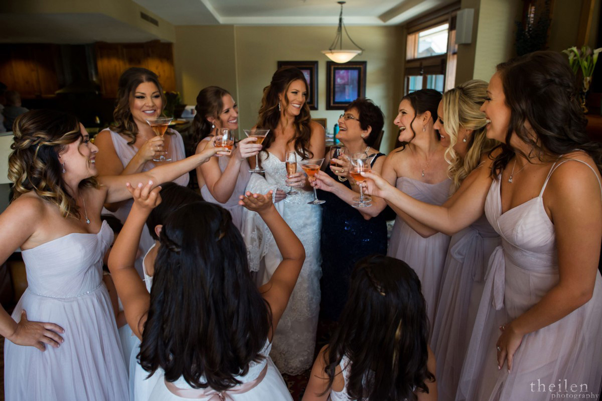 Northstar California Wedding Lake Tahoe bridal party