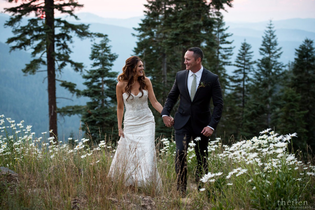 Northstar California Wedding Lake Tahoe couple on mountaintop