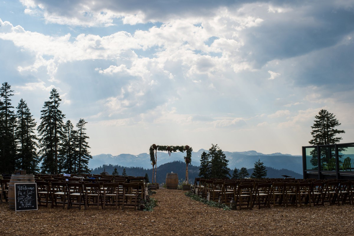 Northstar California Wedding Lake Tahoe ceremony area
