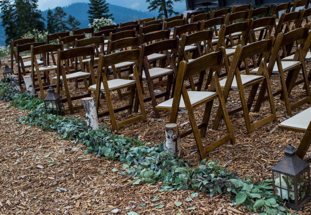 Northstar California Wedding Lake Tahoe ceremony aisle treatment
