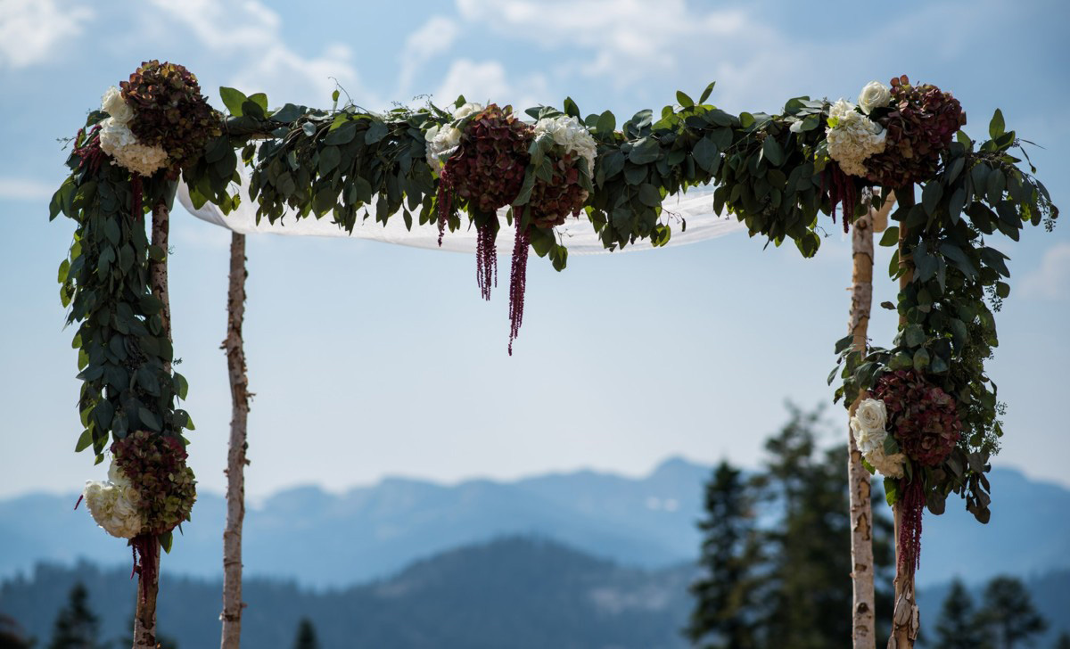 Northstar California Wedding Lake Tahoe ceremony structure