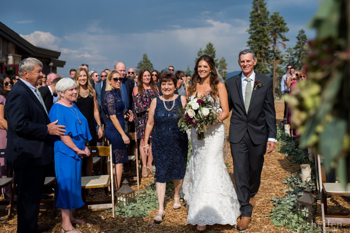 Northstar California Wedding Lake Tahoe bride and parents