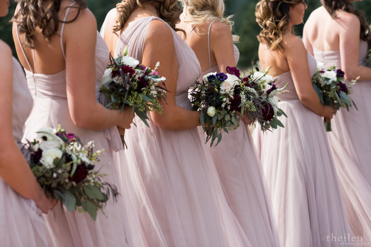 Northstar California Wedding Lake Tahoe bridesmaids bouquets