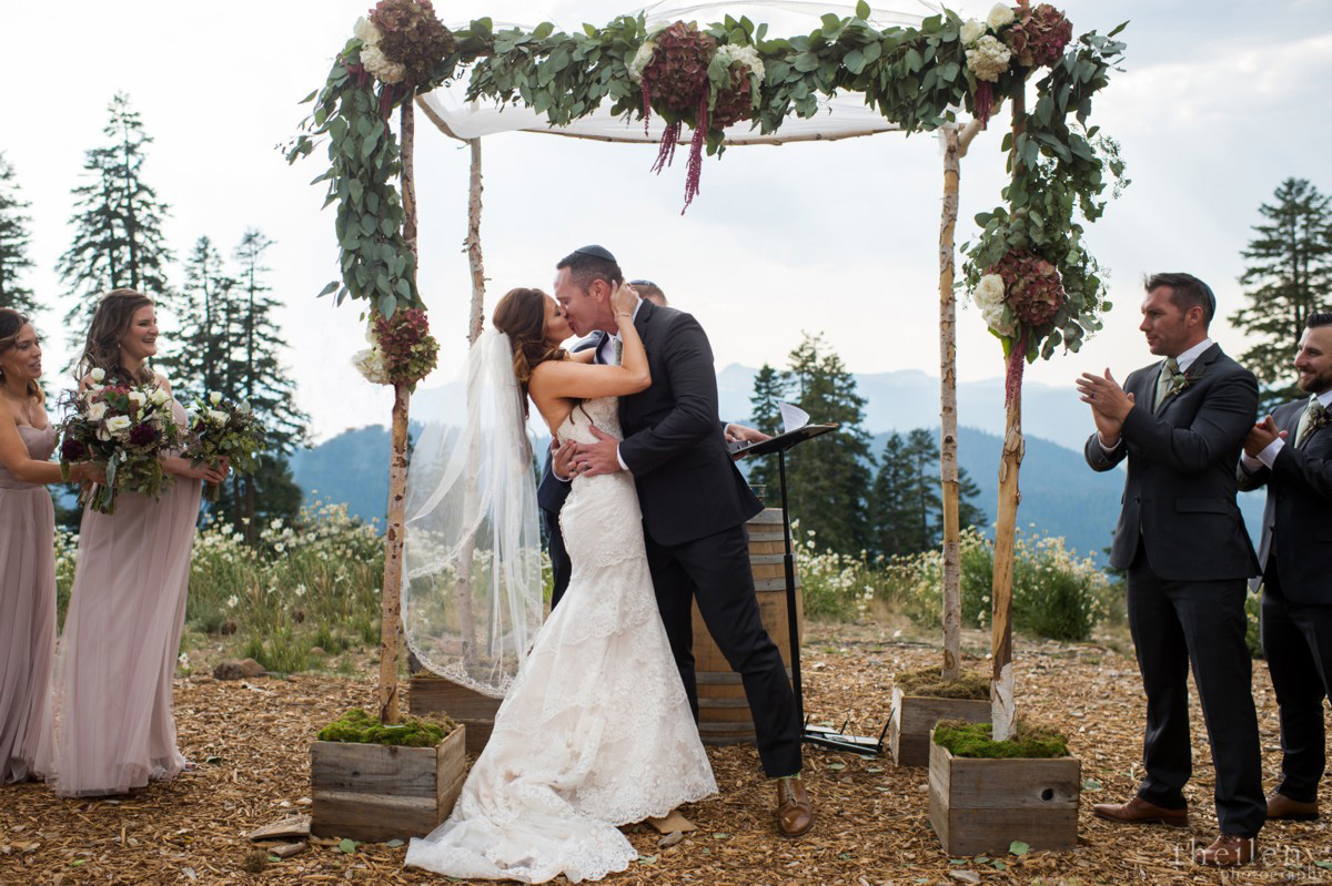 Northstar California Wedding Lake Tahoe the kiss