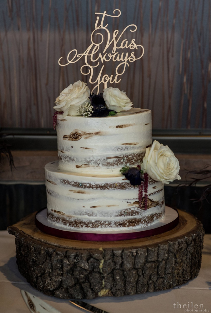Northstar California Wedding Lake Tahoe cake