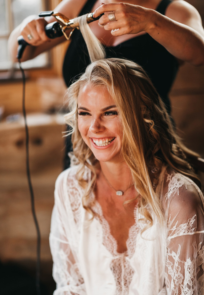 Wedding at The Hideout - VILD Photography - bride hair & makeup