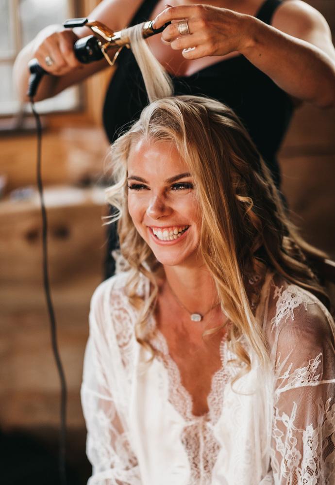 Wedding at The Hideout - VILD Photography - bride hair & makeup