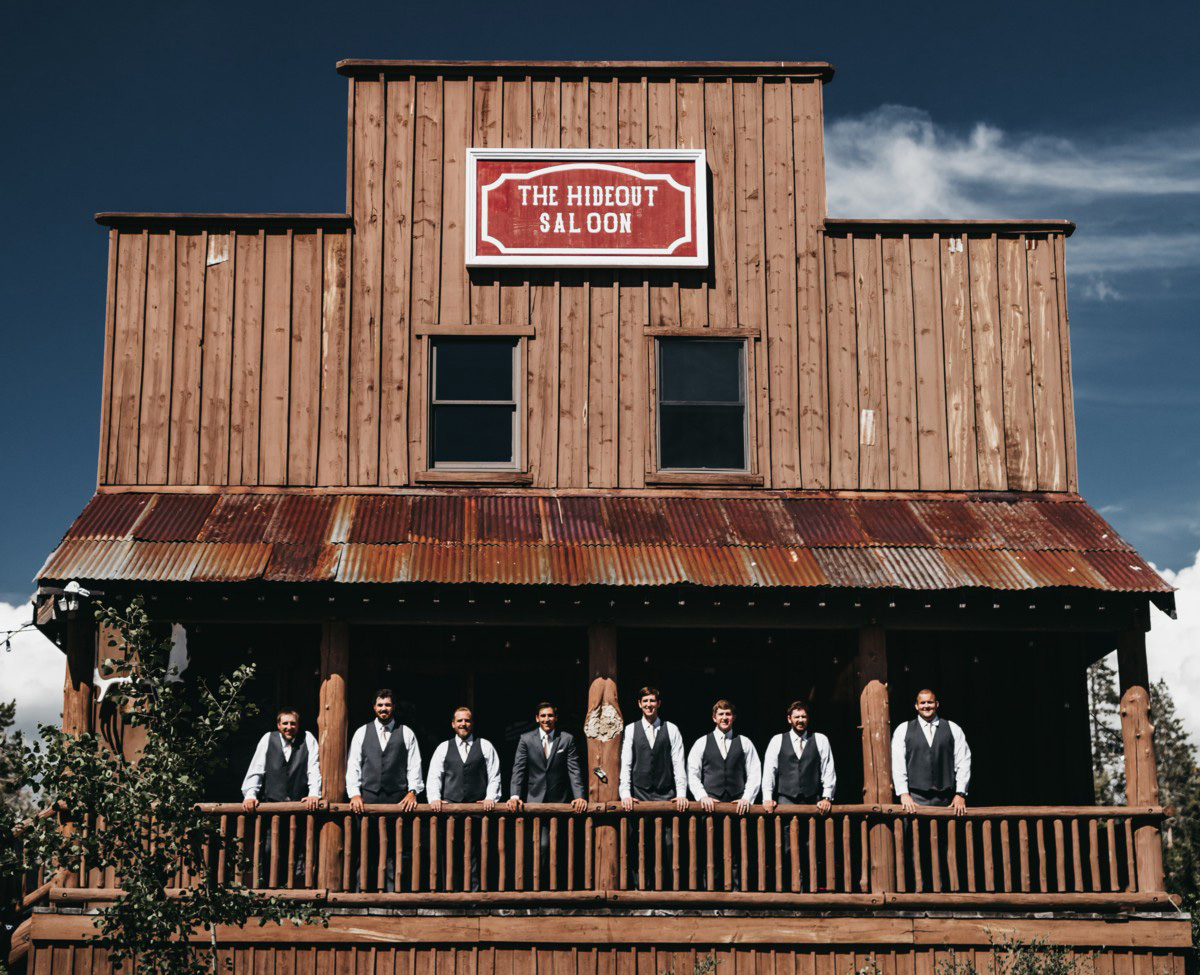 Wedding at The Hideout - VILD Photography - groom with groomsmen