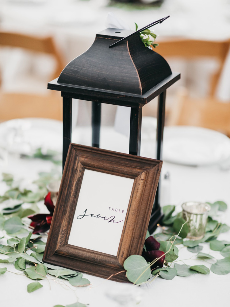 Wedding at The Hideout - VILD Photography - table number and decor