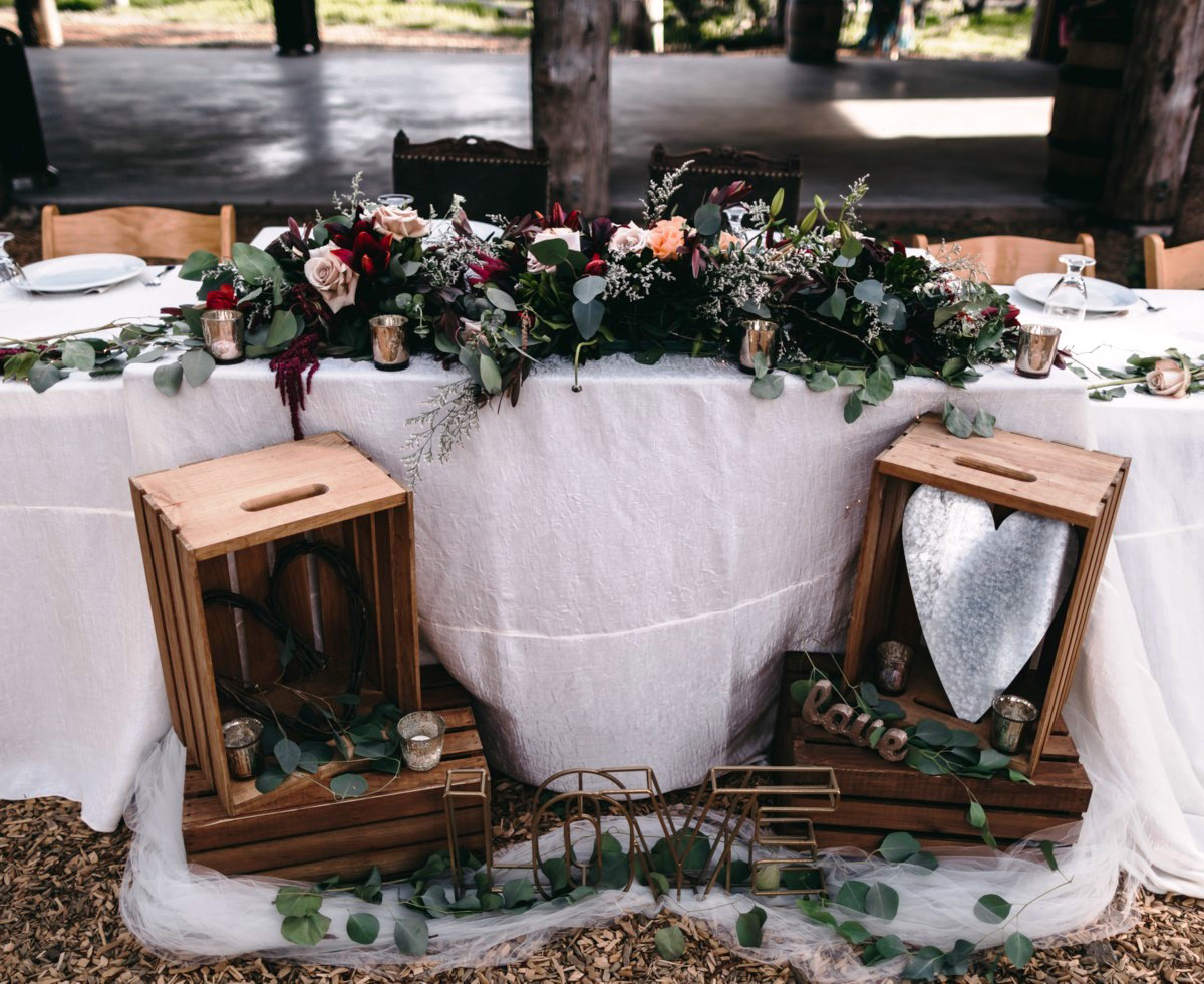 Wedding at The Hideout - VILD Photography - head table