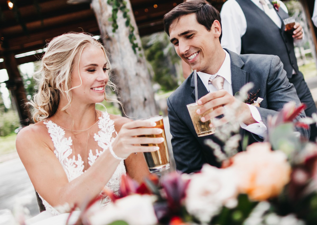 Wedding at The Hideout - VILD Photography - couple toasting