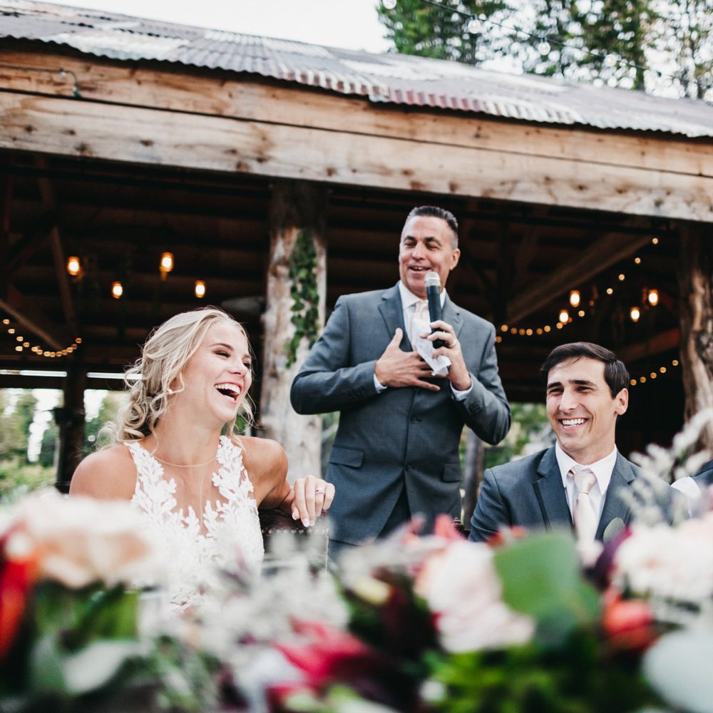 Wedding at The Hideout - VILD Photography - a toast to the couple