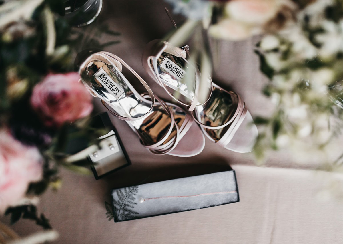 rustic relaxed wedding Lake Tahoe - bride's shoes and accessories