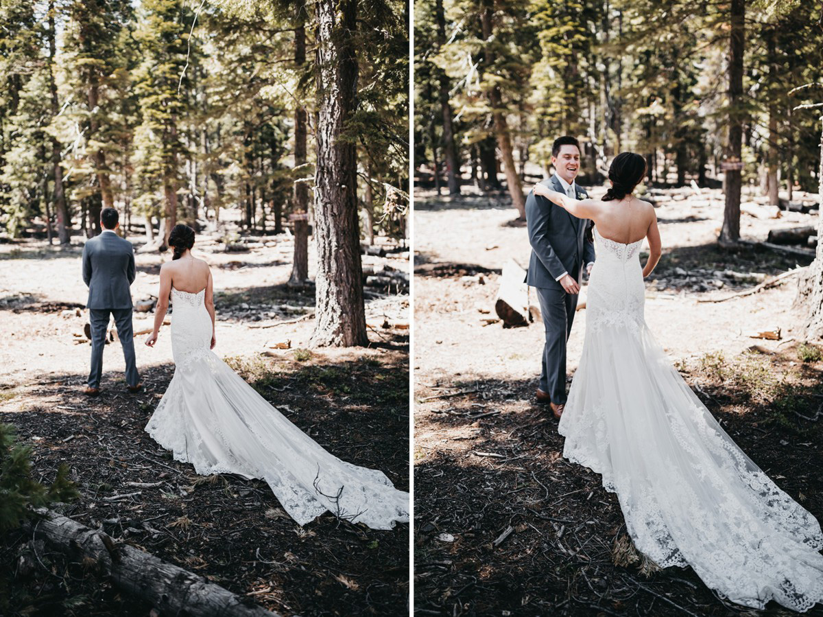 rustic relaxed wedding Lake Tahoe - first look