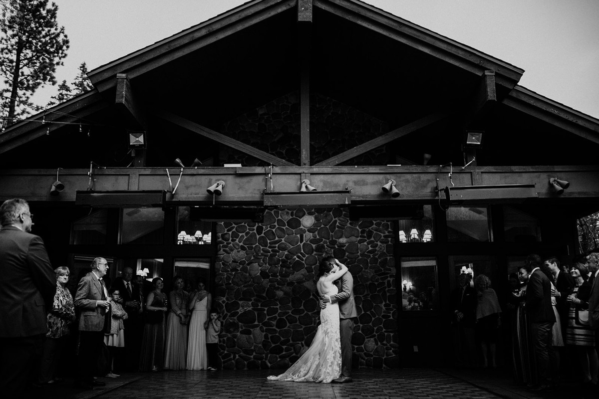 rustic relaxed wedding Lake Tahoe - first dance