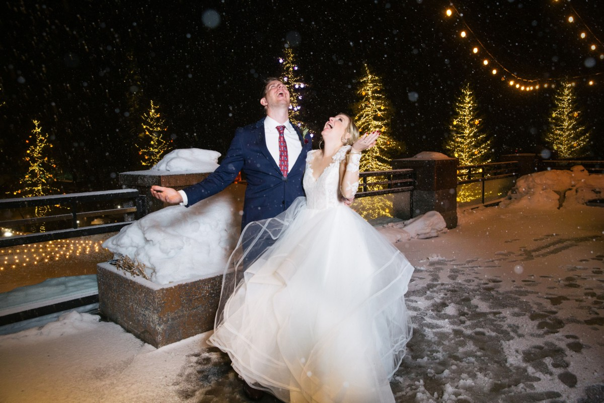 Couple Enjoying the Snow - Resort at Squaw Creek - Lake Tahoe wedding