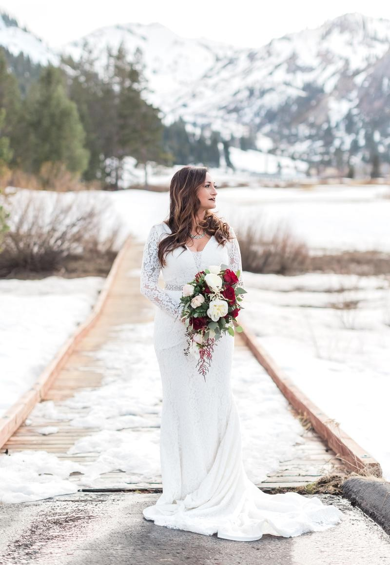 Bride in Meadow - Resort at Squaw Creek - Lake Tahoe wedding