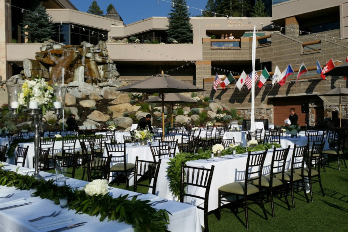 Pavilion Reception - Resort at Squaw Creek - Lake Tahoe wedding