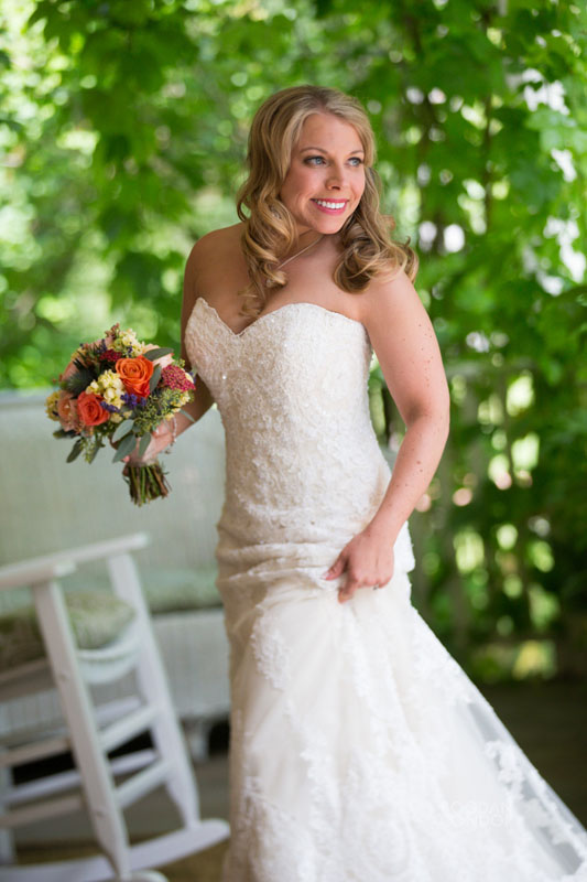 bride with bouquet Lake Tahoe wedding