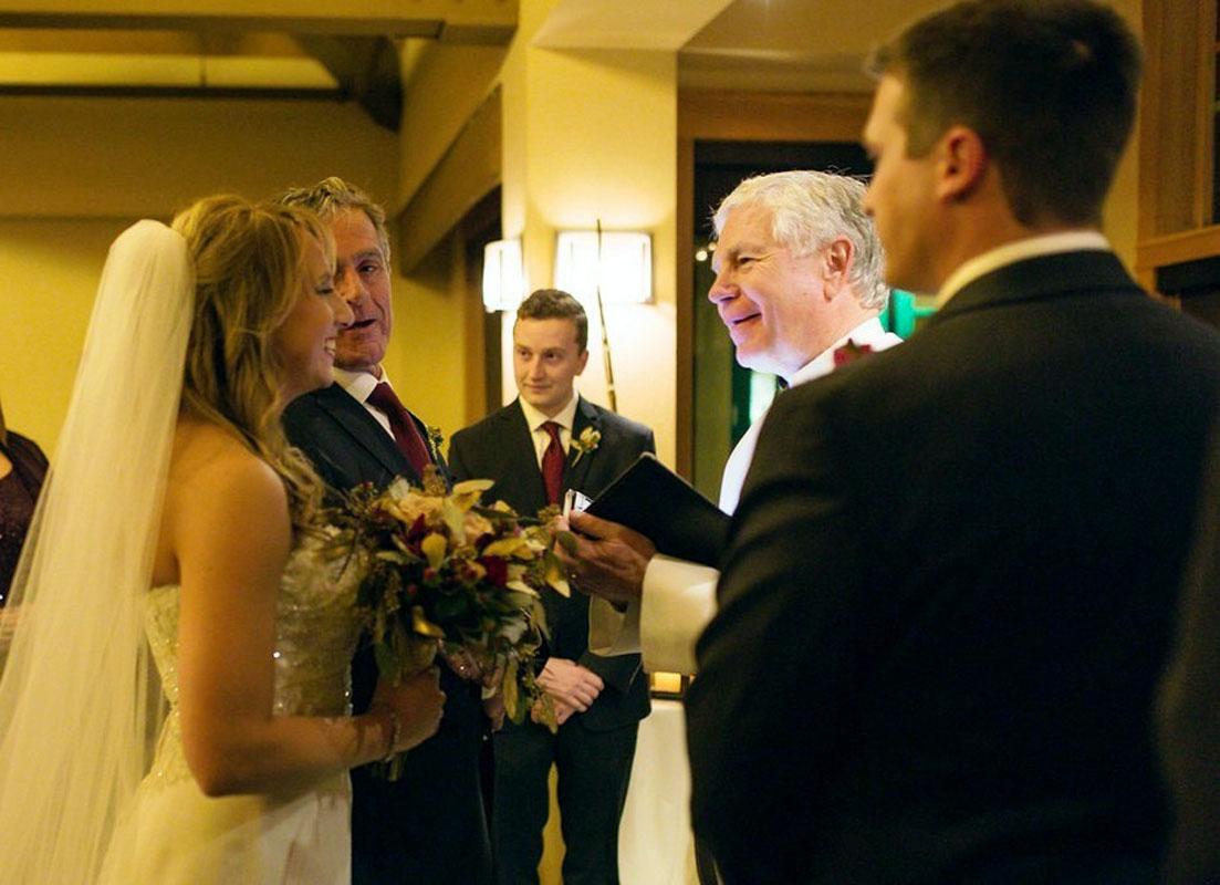 wedding ceremony Rev. Mark Frady