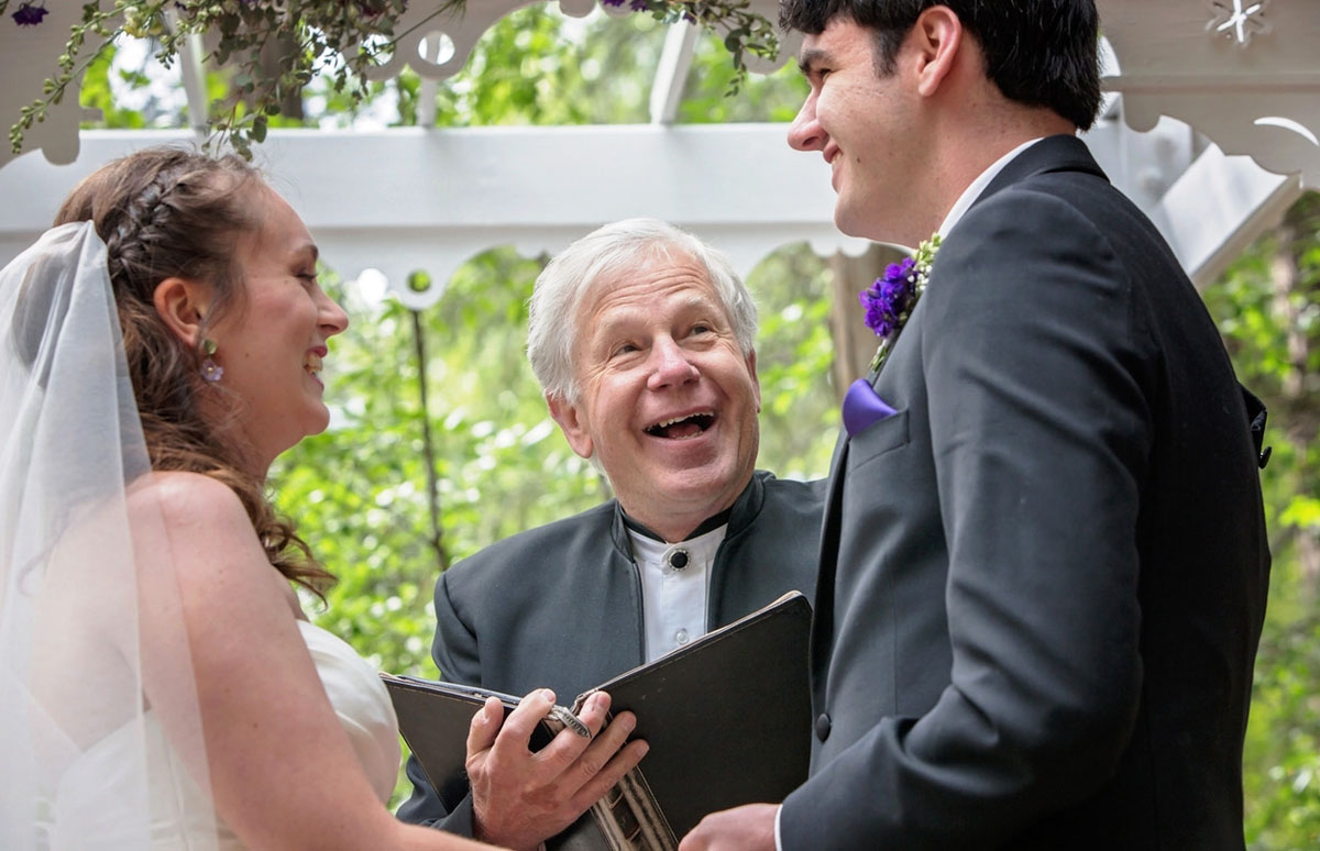Reverend Mark Frady wedding officiant Lake Tahoe