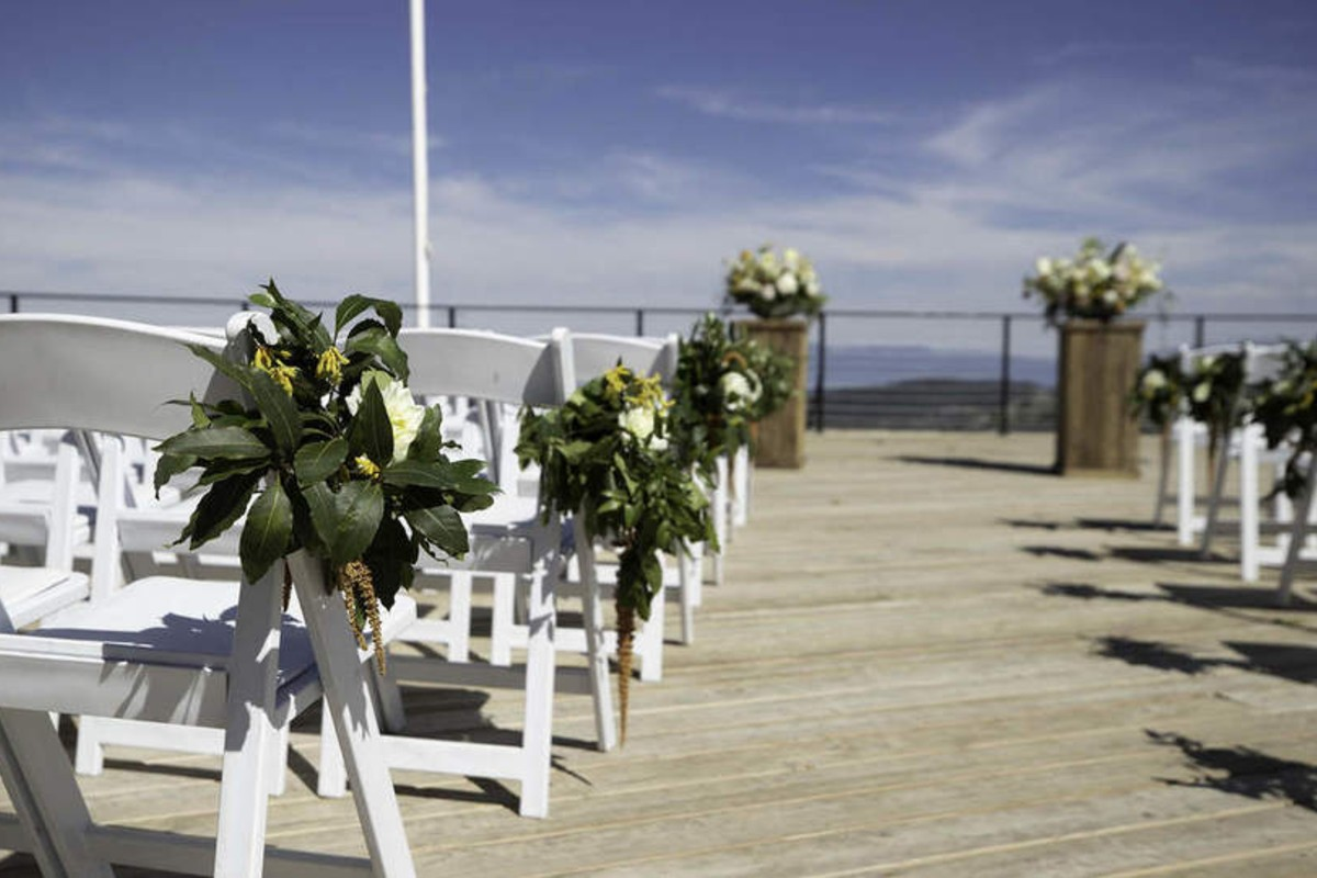 Lake Tahoe wedding Squaw Valley - ceremony decor