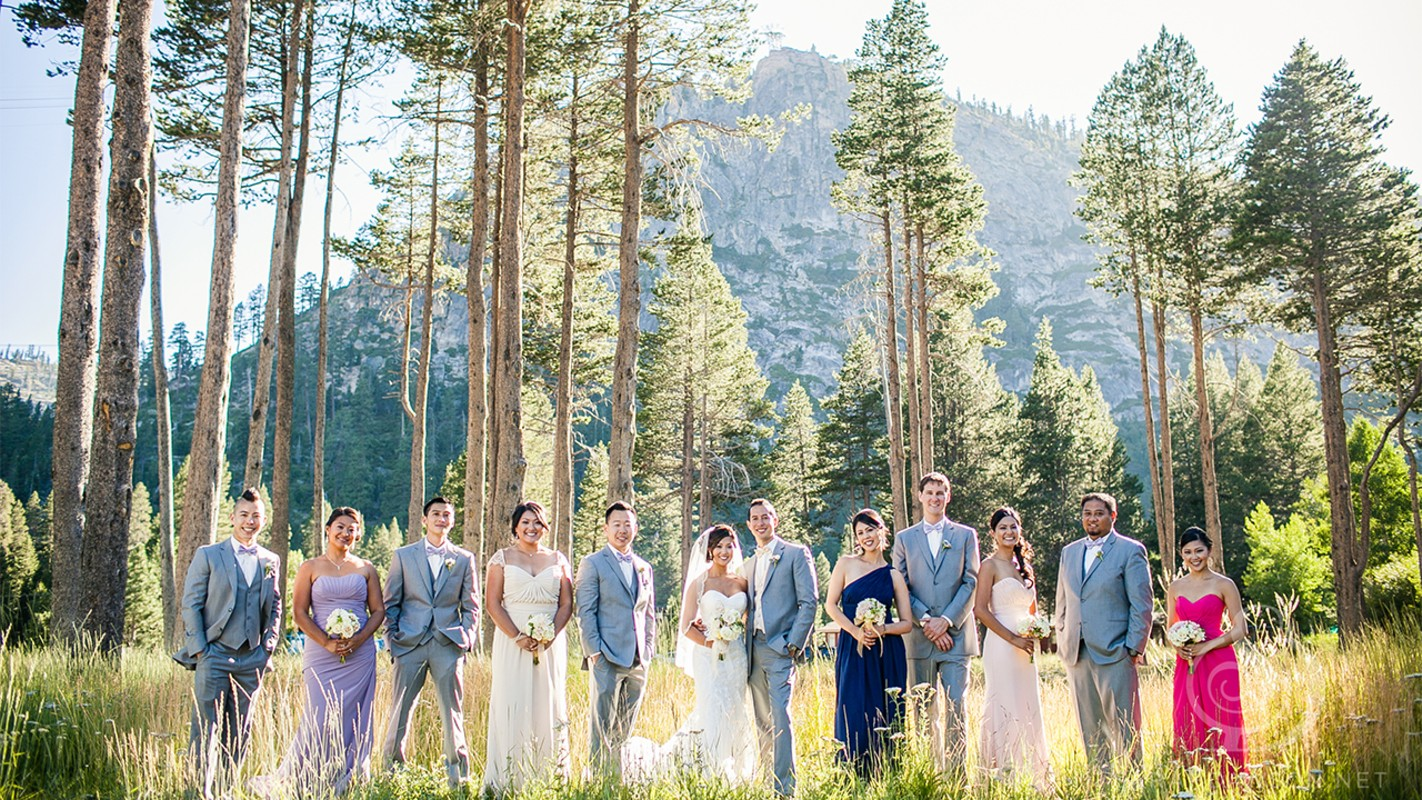 Lake Tahoe wedding Squaw Valley - wedding party